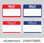 """""""hello my name is"""" label... 