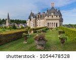 langeais castle in the loire... | Shutterstock . vector #1054478528