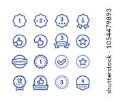 warranty stamps line icons.... | Shutterstock .eps vector #1054479893