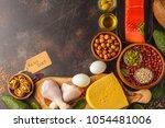 keto diet concept. ketogenic... | Shutterstock . vector #1054481006
