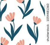 seamless pattern with vintage... | Shutterstock .eps vector #1054481360