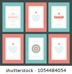 happy birthday greeting cards... | Shutterstock .eps vector #1054484054