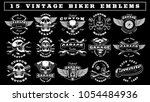 big set of vintage motorcycle... | Shutterstock .eps vector #1054484936