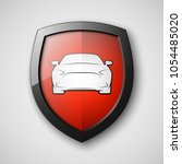 protect car guard shield.... | Shutterstock .eps vector #1054485020