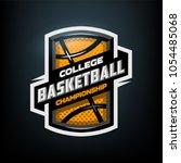 college basketball  sports logo ... | Shutterstock .eps vector #1054485068