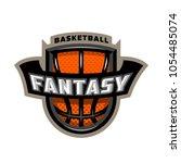 fantasy basketball  sports logo ... | Shutterstock .eps vector #1054485074