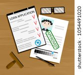 loan application approved.... | Shutterstock .eps vector #1054491020