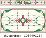 stained glass window in classic ... | Shutterstock .eps vector #1054491284