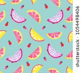 seamless tropical pattern of... | Shutterstock . vector #1054498406