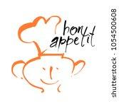 bon appetit lettering. vector... | Shutterstock .eps vector #1054500608