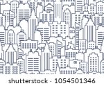 city scape seamless pattern.... | Shutterstock .eps vector #1054501346