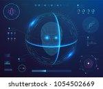 biometrics digital face... | Shutterstock .eps vector #1054502669