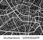 black and white travel city map.... | Shutterstock .eps vector #1054502699