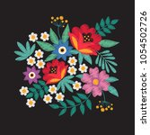 bouquet of garden flowers....   Shutterstock .eps vector #1054502726