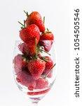 fresh strawberries red colour ...   Shutterstock . vector #1054505546