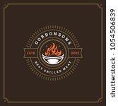 grill restaurant logo vector... | Shutterstock .eps vector #1054506839