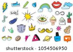 cute colorful modern patch set. ... | Shutterstock .eps vector #1054506950