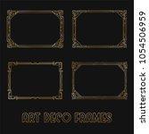 art deco horizontal gold frames ... | Shutterstock .eps vector #1054506959