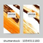 set of vector business card...   Shutterstock .eps vector #1054511183