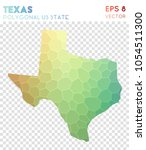 texas polygonal  mosaic style... | Shutterstock .eps vector #1054511300