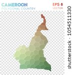 cameroon polygonal  mosaic... | Shutterstock .eps vector #1054511330
