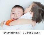 happy children  laughing kids... | Shutterstock . vector #1054514654