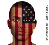 usa african man isolated on... | Shutterstock . vector #105451553