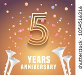 5 years anniversary vector icon ... | Shutterstock .eps vector #1054516316