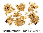 crunchy granola  muesli pile... | Shutterstock . vector #1054519340