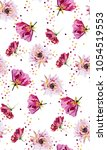 summer pattern with bright... | Shutterstock .eps vector #1054519553