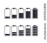 battery icon set. vector... | Shutterstock .eps vector #1054521800