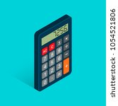 calculator isometric flat icon. ... | Shutterstock .eps vector #1054521806