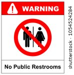 no public restrooms symbol. do... | Shutterstock .eps vector #1054524284