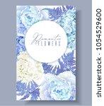 vector botanical banner with... | Shutterstock .eps vector #1054529600