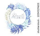 vector botanical banner with... | Shutterstock .eps vector #1054529603