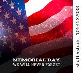 memorial day on american flag... | Shutterstock .eps vector #1054532033