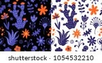 floral seamless pattern with... | Shutterstock .eps vector #1054532210