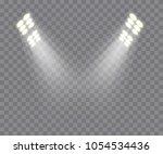 light effects. spotlights scene.... | Shutterstock .eps vector #1054534436