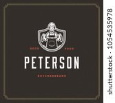 butcher shop logo vector... | Shutterstock .eps vector #1054535978