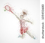 abstract tennis player  kick... | Shutterstock .eps vector #105453680