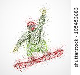 abstract snowboarder a jump.... | Shutterstock .eps vector #105453683