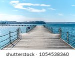 harbour view of the sea in a... | Shutterstock . vector #1054538360
