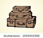 big closed carry trunk box sac... | Shutterstock .eps vector #1054542500