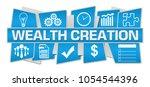 wealth creation text written...   Shutterstock . vector #1054544396
