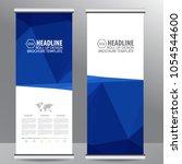 roll up business brochure flyer ... | Shutterstock .eps vector #1054544600