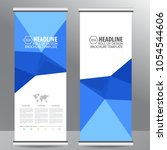 roll up business brochure flyer ... | Shutterstock .eps vector #1054544606