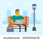 caucasian white business man... | Shutterstock .eps vector #1054544678