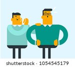 young caucasian white man... | Shutterstock .eps vector #1054545179