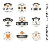 grill restaurant logos and... | Shutterstock .eps vector #1054547516