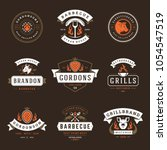grill restaurant logos and... | Shutterstock .eps vector #1054547519